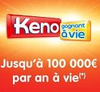 keno gagnant à vie à Mâcon