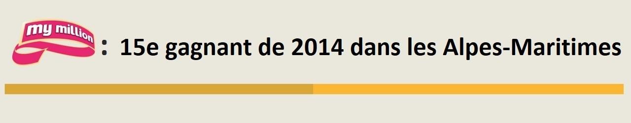 15e gagnant My Million en 2014, il vient des Alpes-Maritimes