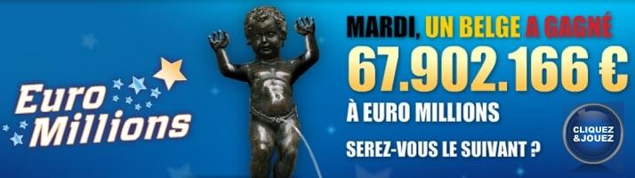le gagnant Euromillions du mardi 15 juillet 2014 est un joueur belge
