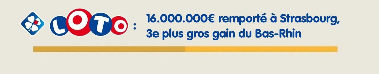 Gagnant du Loto à Strasbourg pour 16 millions d'euros en 2014
