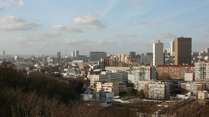 panorama de la ville Montreuil en Seine Saint Denis