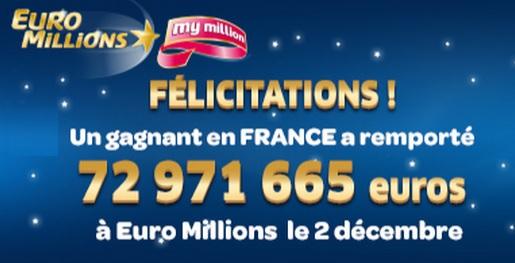 gagnant français à l'Euromillions My Million
