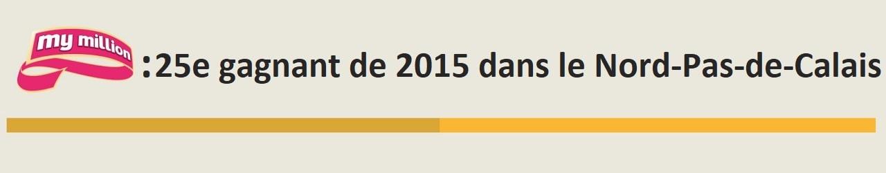 25e gagnant My Million de 2015 dans le Nord-Pas-de-Calais