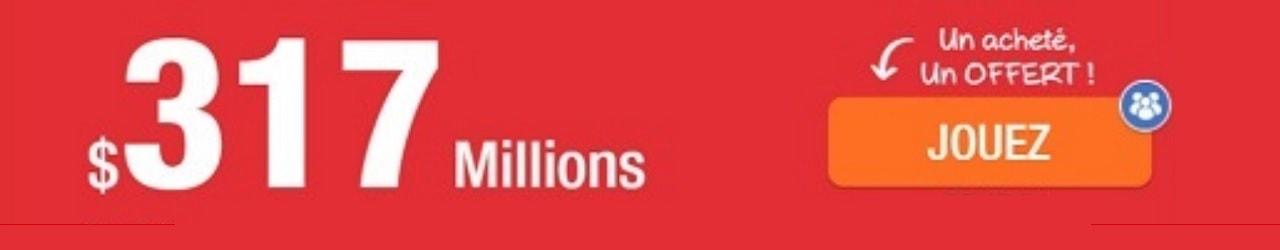 Powerball et jackpot de 317 millions de dollars