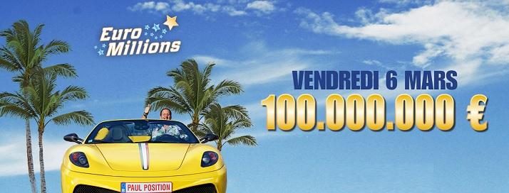 euromillions vue par la Belgique pour les 100 millions d'euros de ce soir