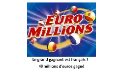 Euromillions gagnant france 40M