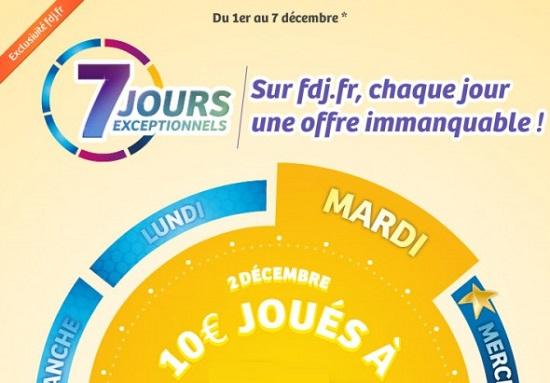 offre 7 jours exceptionnels FDJ