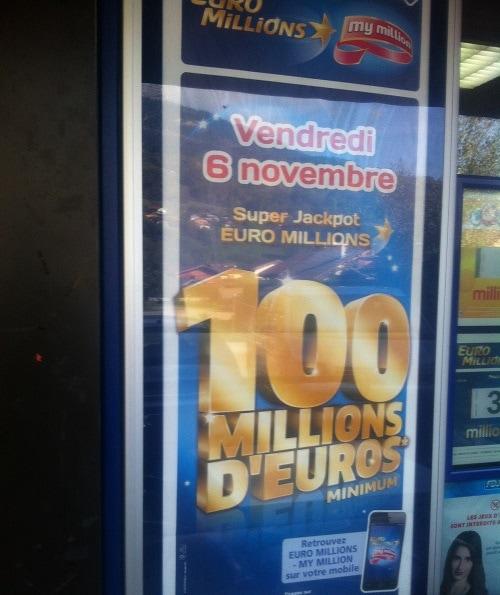 affiche du super jackpot Euromillions