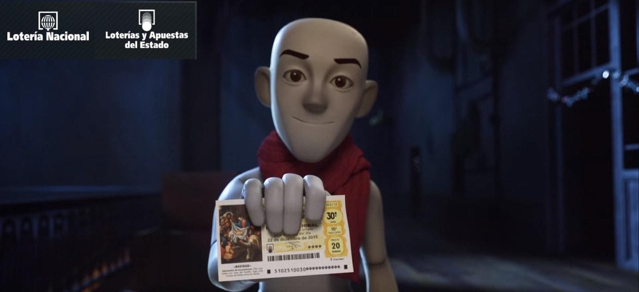 el gordo publicité loterie de Noël espagnole