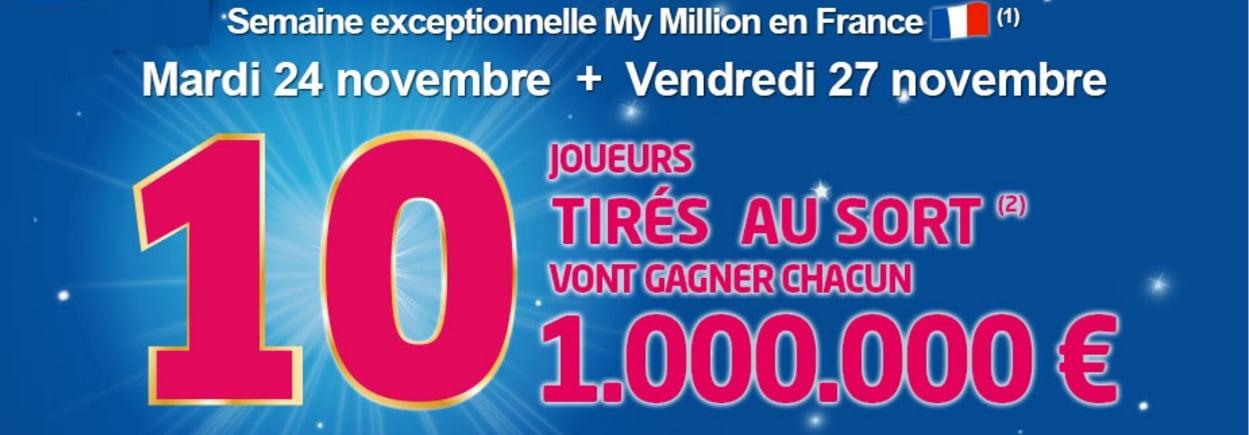 My Million, la semaine des millionnaires du mardi 24 novembre au 27 novembre 2015