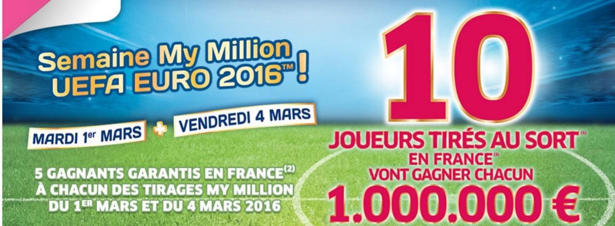 Affiche de la Semaine des millions My Million UEFA Euro 2016