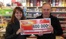 Keno : 600'000€ remporté à Montceau-Les-Mines, plus gros gain de 2016 !
