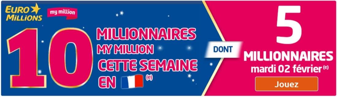 semaine des millions du 2 au 5 février 2016