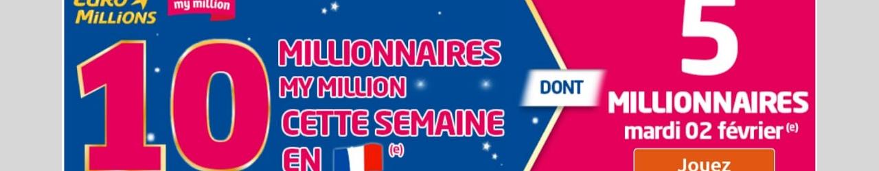 semaine des millionnaires mymillion fevrier 2016