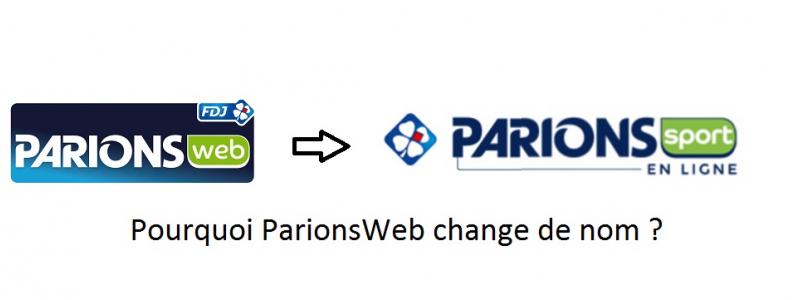 changement de nom parionsweb parionssport
