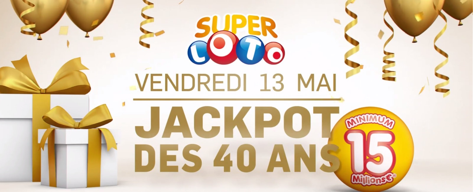 Publicité vidéo FDJ pur le Super Loto du vendredi 13 mai