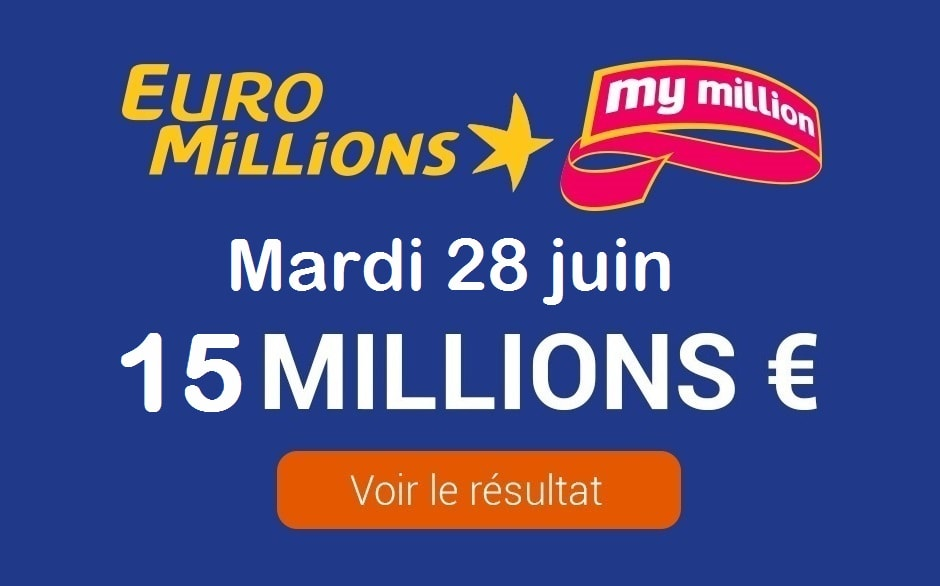 Resultat Euromillions My Million Tirage Du Mardi 28 Juin 2016