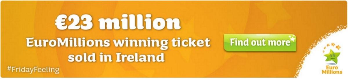 Gagnant irlandais Euromillions pour 23,8 millions d'euros