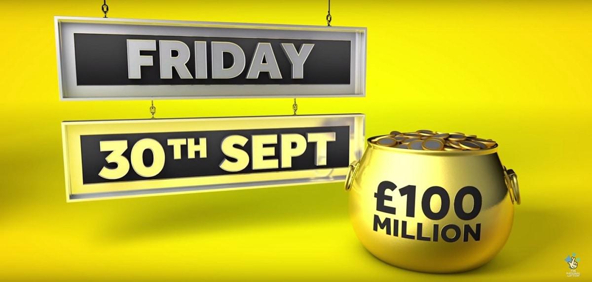 Jackpot Euromillions de 100 millions de livre au Royaume-Uni