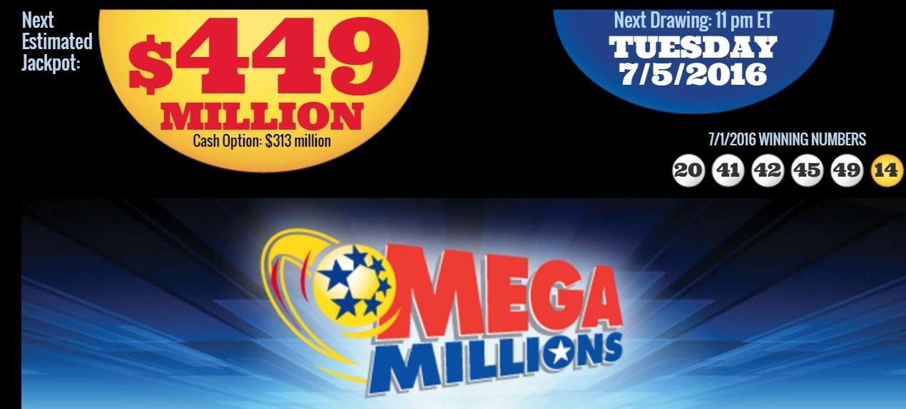 MegaMillions 449 millions de dollars ce 5 juillet 2016