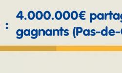 Loto: 2 gagnants (Pas de Calais et Bas-Rhin) raflent 2 millions d'euros, ils se partagent un jackpot de 4 millions d'euros,