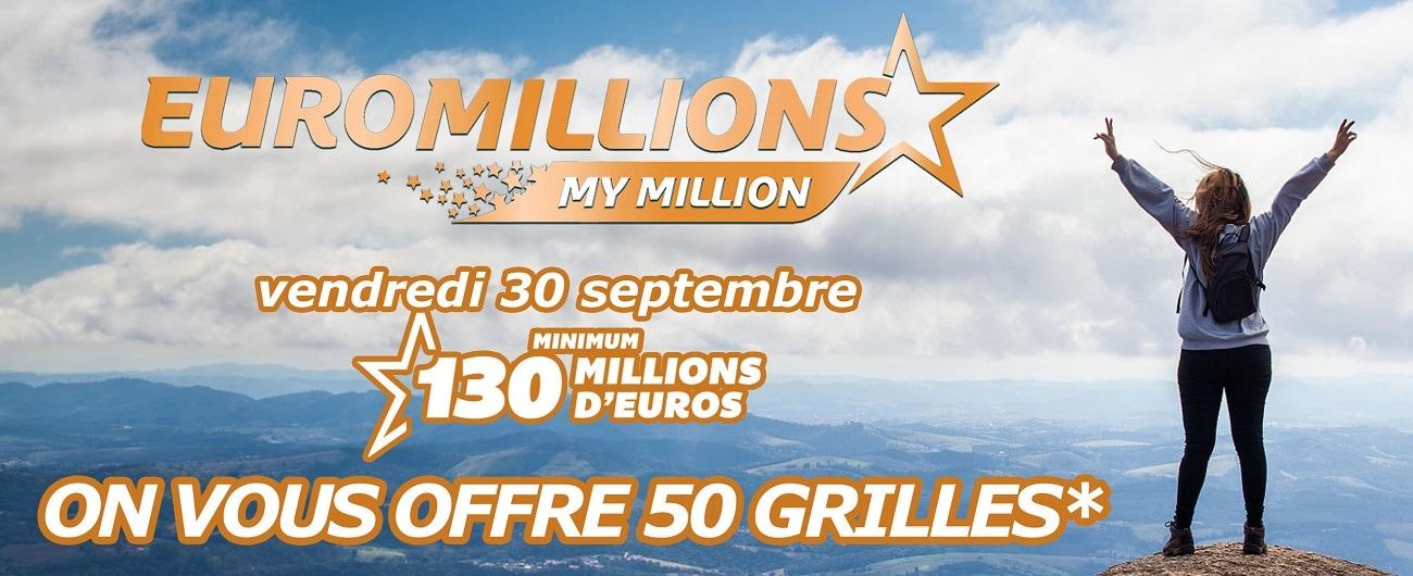 Concours Euromillions du super jackpot Euromillions ce 30 septembre 2016