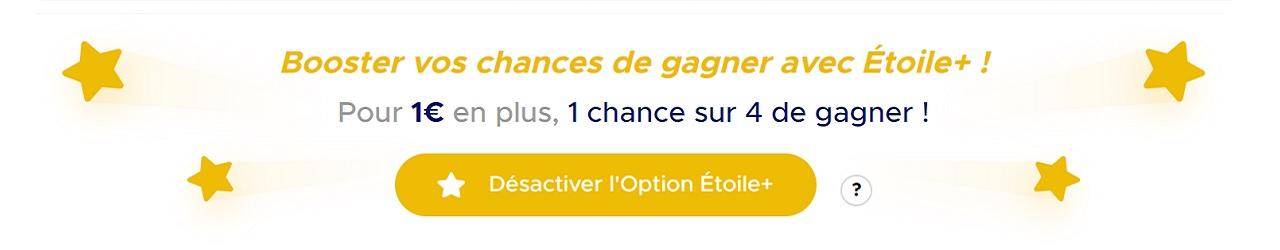 Option Etoile+ : Euromillions nouvelle formule