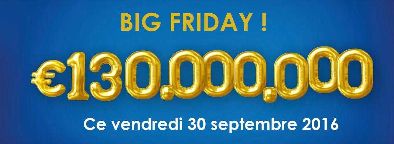 Super Jackpot Euromillions le vendredi 30 septembre 2016