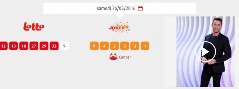 tirage lotto samedi 26 mars 2016