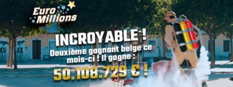 deuxieme gagnant belgique euromillions 50 millions euros