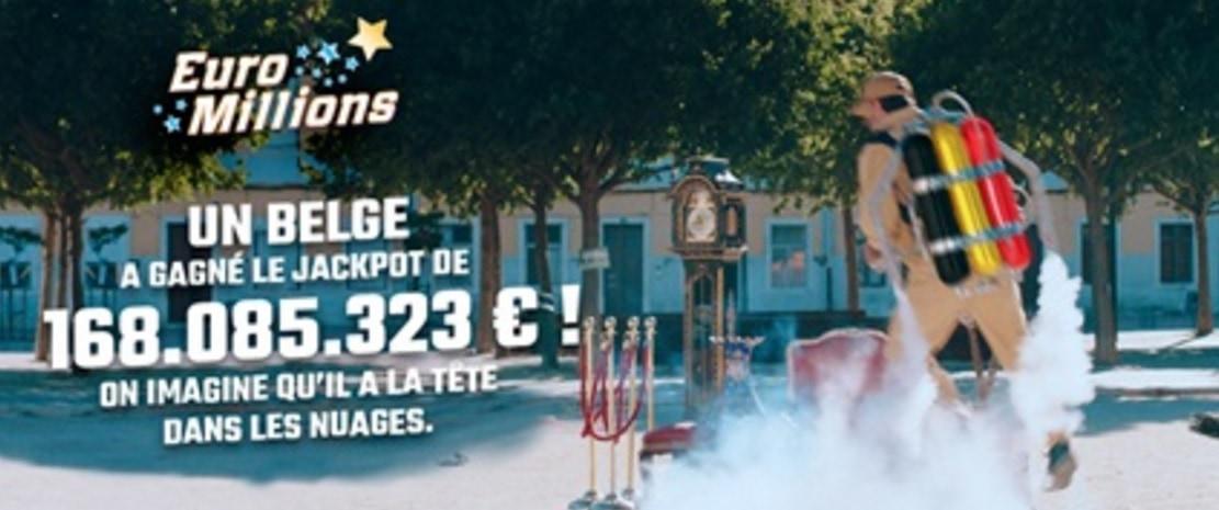 Gagnant Euromillions en belgique pour 168 millions d'euros
