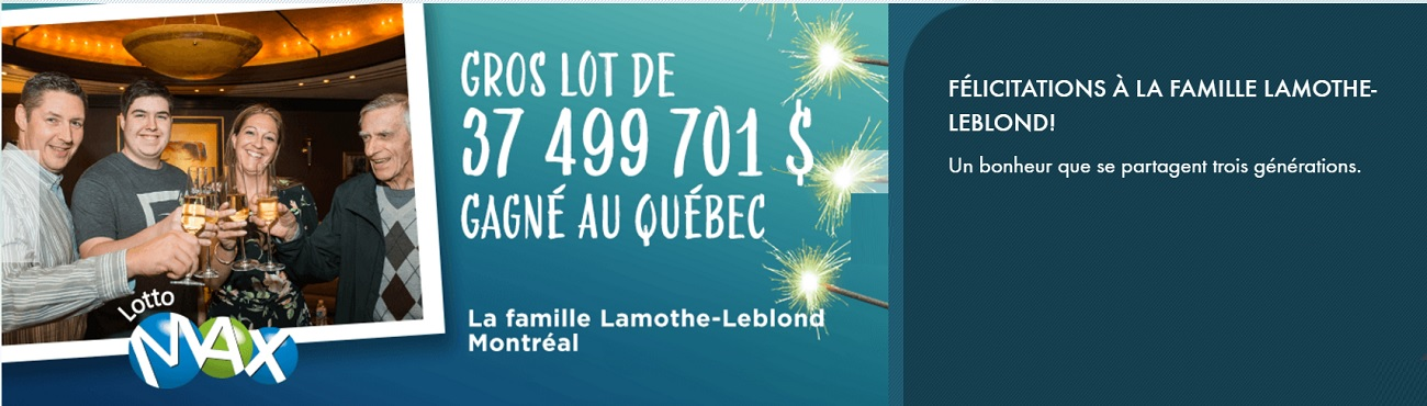 Lotto Max : 37 millions d'euros au Québec