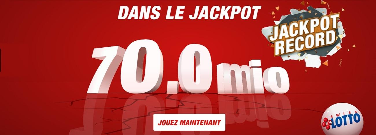 Un jackpot de 70 millions CHF au Swiss Loto