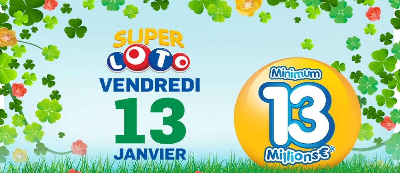 Vendredi 13 : Super Loto de 13 millions d'euros !