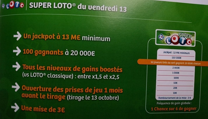 Super Loto du vendredi 13 octobre 2017