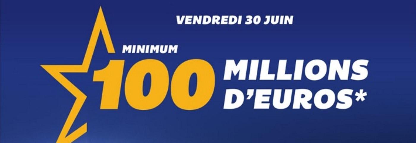 Euromillions du vendredi 30 juin 2017 pour 100 millions d'euros