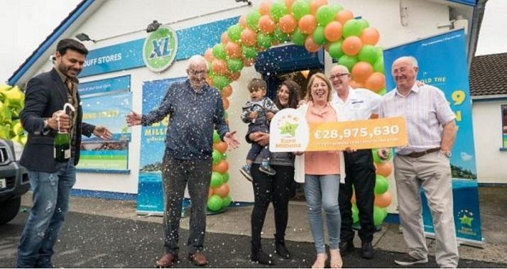 détaillant gagnant Euromillions en Irlande