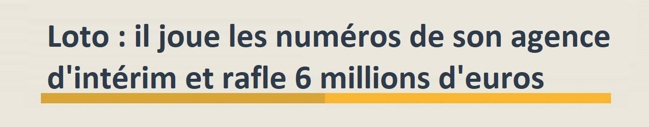 loto gagnant intérimaire de 6 millions d'euros dans le Var