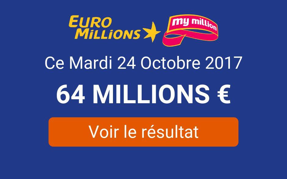 Resultat Euromillions My Million Du Mardi 24 Octobre 2017