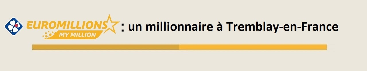 My Million : un millionnaire à Tremblay-en-France remporte 1.000.000€