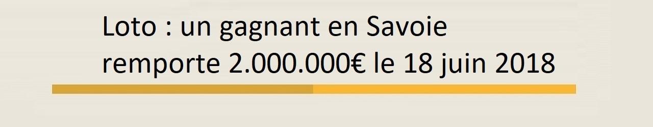 Gagnant Loto en Savoie pour 2 millions d'euros