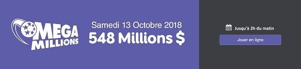 jouer au Mega Millions pour 548 millions de dollars