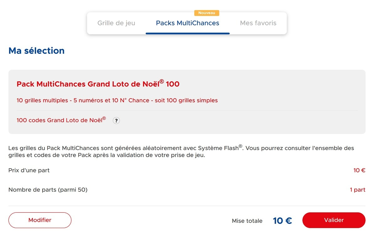 Grand Loto de Noël : le pack multichances