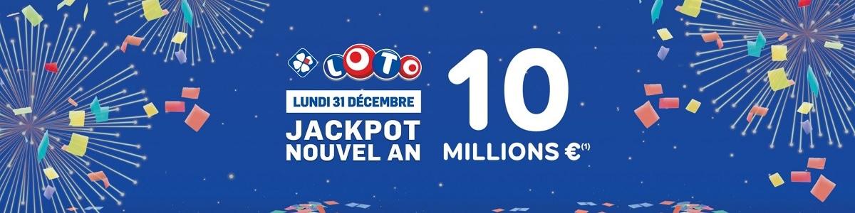 Jackpot Loto du Nouvel An de ce lundi 31 décembre 2018