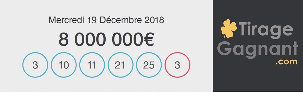 Résultat Loto du mercredi 19 décembre 2018