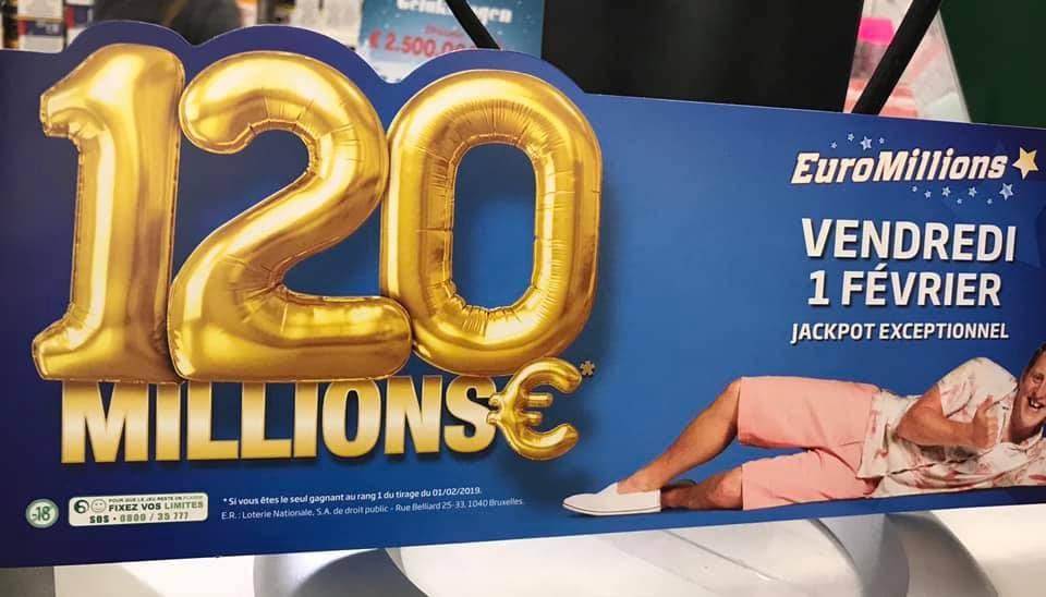 EuroMillions : la publicité visible en belgique pour le super jackpot