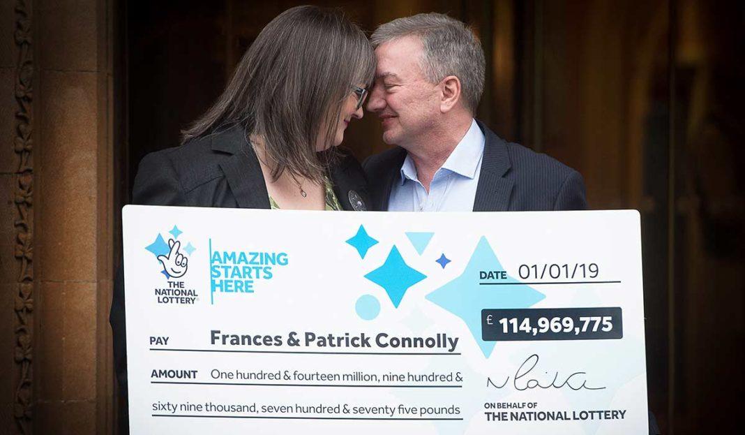 Frances et Patrick Connolly, gagnants EuroMillions du 1er janvier 2019