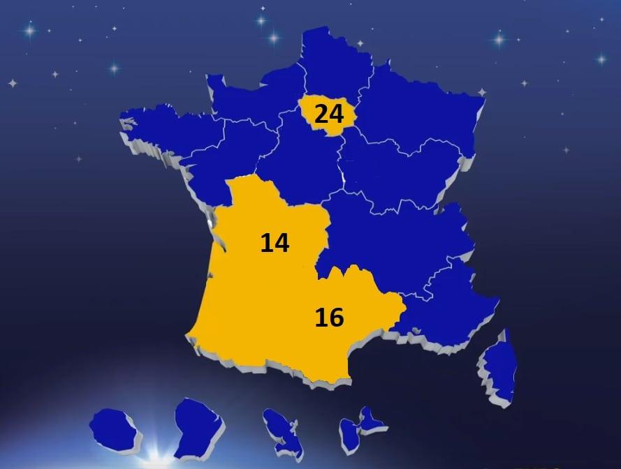 Carte des gagnants My Million : les 3 régions chanceuses