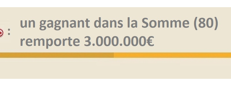 loto gagnant somme 7 janvier 2019