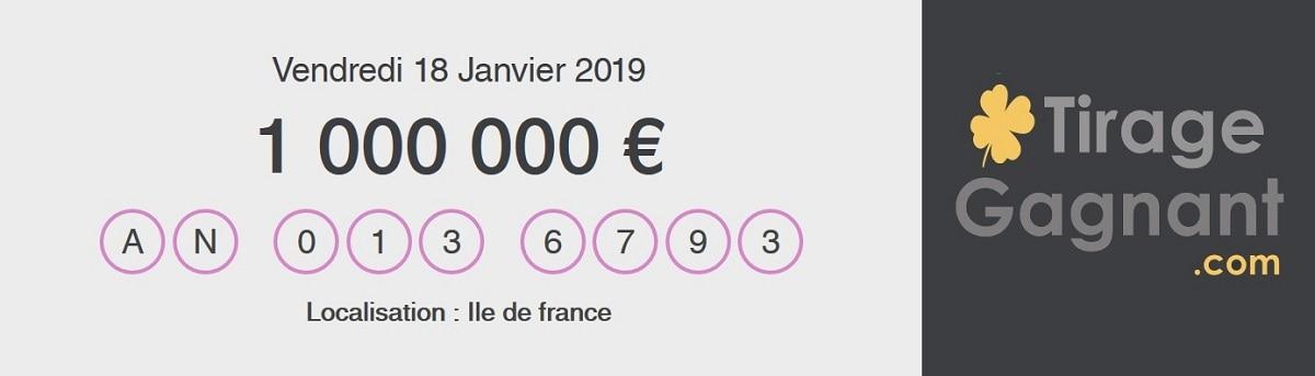 My Million : le code gagnant du vendredi 18 janvier 2019